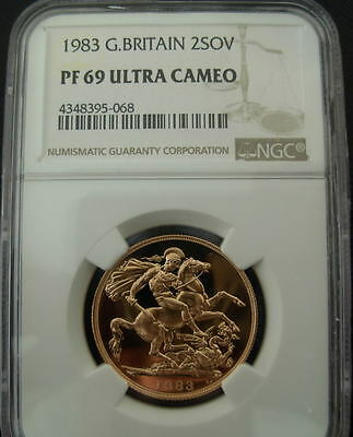 Great Britain 1983 Gold  2 Sovereigns NGC PF-69UC
