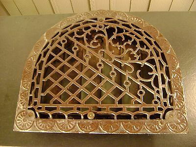 Antique Ornamental Victorian Arch Cast Iron Heating Grate