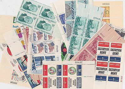 US Stamps - Discount Postage ($5 Face) - 25 Plate Number Blocks/4 - 5c Denoms