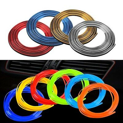 Car DIY Interior Exterior Moulding Styling Strip Decorative Decals Line 5M/16ft