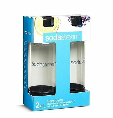 SodaStream 1L Carbonating Bottles Twin Pack - White/Black Free Shipping