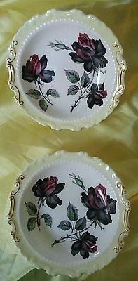 LOVELY PAIR of ROYAL ALBERT MASQUERADE BUTTER PAT/PIN DISHES 13cms EXCELLENT