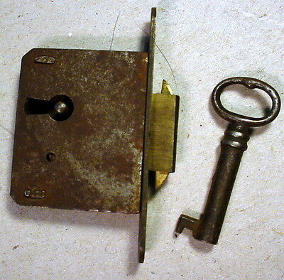 Mortise Furniture Lock with Key Antique Furniture Secretary Side by Side Desk