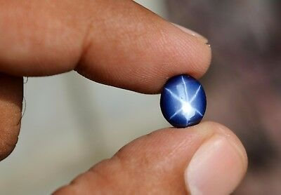 10 Ct Natural 6 Rays Star Sapphire Cabochon Stone Free GIL Certificate Gemstone.