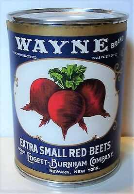 Wayne Extra Small Red Beets Can Label On Old Smooth Side 1940 Tin Can
