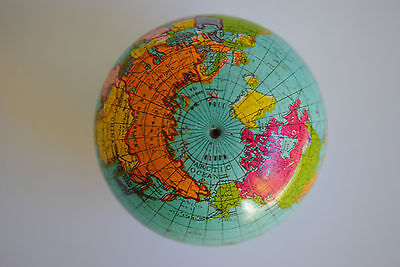 VINTAGE MINIATURE WORLD GLOBE 4cm DIAMETER