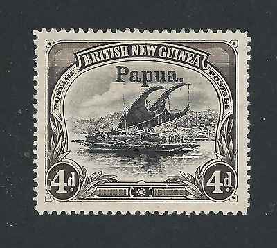 PAPUA 1906 4d BLACK & SEPIA MM SG 17 CAT £250