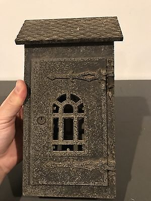 Vintage Antique Art Craft Wall Mail Box Front Open Slot
