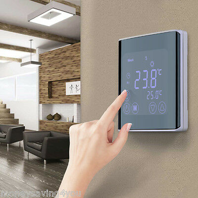 Digital Touch Screen Thermostat Temperature Controller Heating Programmable UK
