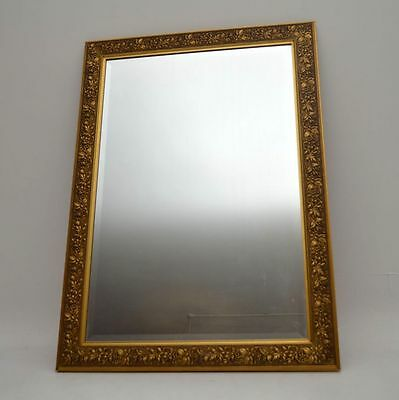 Large Antique Gilt Framed Bevelled Mirror