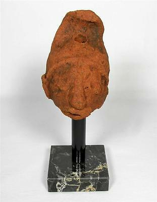 Ancient Sri Lankan Pottery Head c1100 to 1400AD with Marble Stand