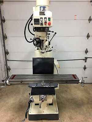 """Vectrax GS-16F-1 3HP 9""""x 49"""" Frequency Drive Knee Milling Machine Variable Speed"""