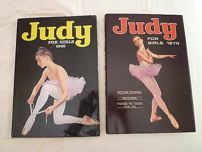 2 Vintage Judy Annual's - 1969 & 1970 - Good Condition