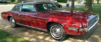 1969 Ford Thunderbird Landau 1969 Ford Thunderbird, 2 door, restored, red with black vinyl top & black seats