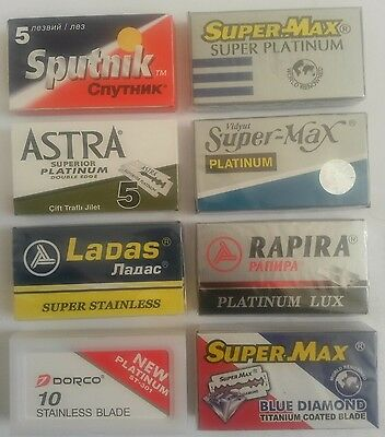 Razor blade mixed sample pack (50 best quality -Mild- Double edge blades)