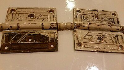 vintage ornate brass hinges