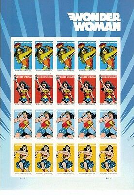 #5149-5151 Wonder Woman Pane of 20 Forever Stamps