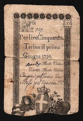 50 Lire From Italy 1794 M