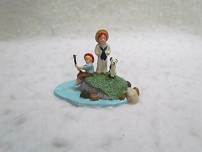 "1998 Dept. 56 Seasons Bay ""Fishing in the Bay"" Porcelain Figure in Original Box"