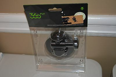 "360fly - Quick Twist Suction Cup Mount 1/4""-20 - 360 Action Camera - Black New"