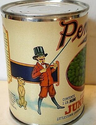 Penrod June Peas  Can Label On Old Smooth Side 1940 Tin Can
