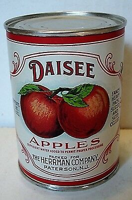 Daisee Apples  Can Label On Old Smooth Side 1940 Tin Can