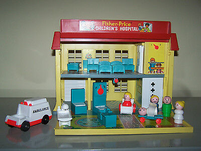 Fisher Price 931 chidren´s hospital little People vintage USA 1976