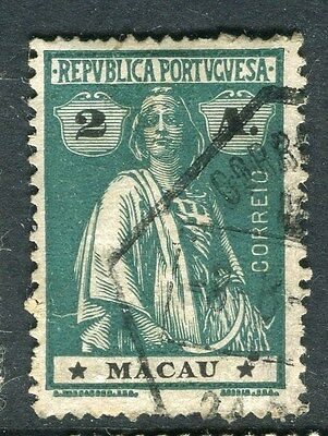 MACAU;   1913 early Ceres issue fine used 2a. value