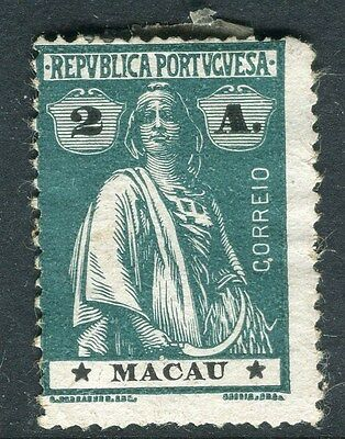 MACAU;   1913 early Ceres issue Mint unused 2a. value