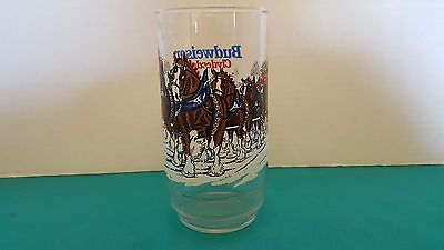 Budweiser Clydesdales Vintage Holiday Drinking Glass