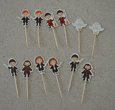 Harry Potter Cupcake toppers 12 pieces for birthday cake or party decoration