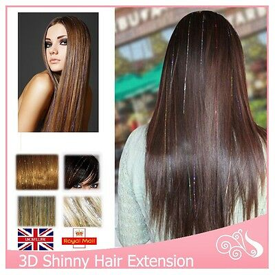Hair Tinsel Sparkle Holographic Glitter Extensions Highlight Party 1000 Strands