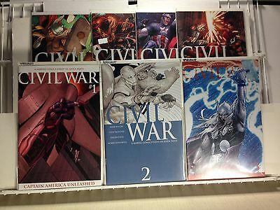 PRIMO:  CIVIL WAR #1 2 3 (variants) + #4 5 6 7 NM set AVENGERS Marvel comics b3