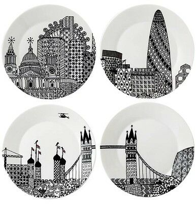 Royal Doulton Charlene Mullen London Calling Plate Set (not boxed)