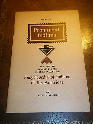 Prominent Indians By Nancie Anne Gille Portraits of Leading Indians Booklet