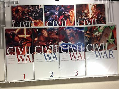 PRIMO:  CIVIL WAR #1 2 3 4 5 6 7 NM set AVENGERS Marvel comics b3