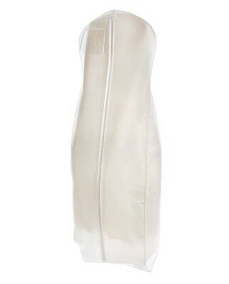 Bridal White Wedding Gown Dress/Coat Garment Bag with Gusset - With Shoe Bag