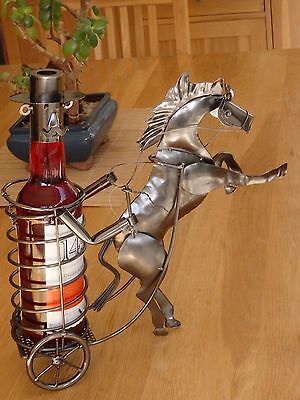 table centre piece rearing horse novelty  bottle holder wine rack