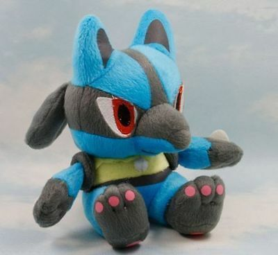 "7.5"" 19CM Pokemon Lucario Cute Soft Plush Toy Doll Kids Gift New 2016"
