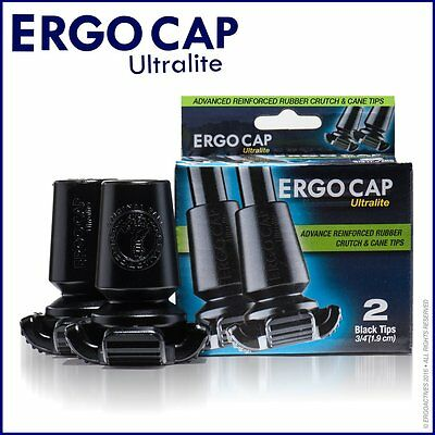 Ergocap® Ultralite Cane Rubber Tip (2 Crutch Tips-Universal for Canes)