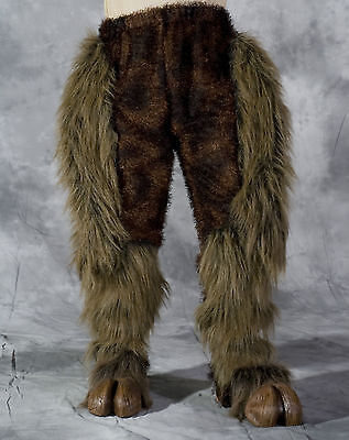 Centaur Legs & Hooves Brown Hairy Pants & Feet Adult Latex Halloween Costume