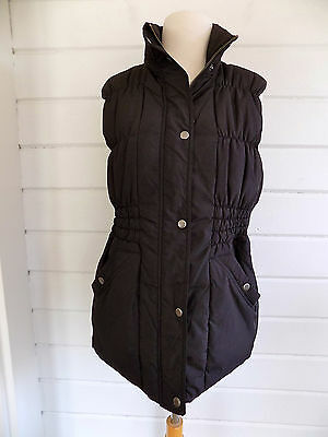 A PEA IN THE POD quilted down filled puffer maternity vest black- Sz. M- Cute!