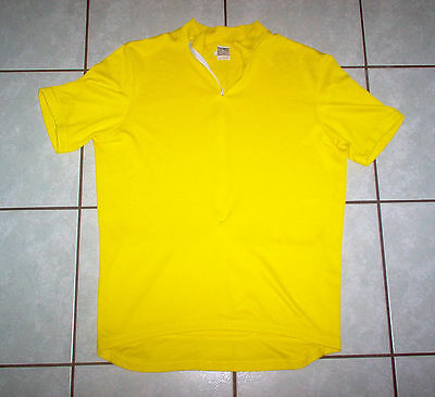 VENTOU Cycle Apparel JERSEY; Bright Yellow - Size L, Aussie Made