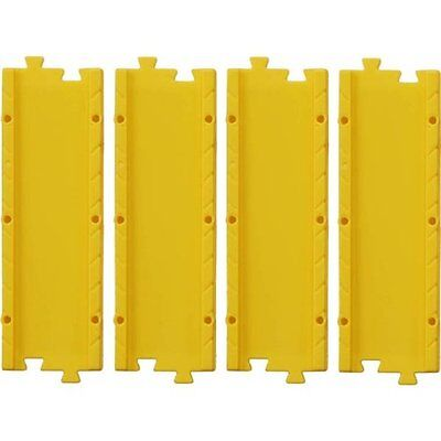 Takara Tomy Tomica World Road System D-01 accessory 4X Straight Slope Yellow Set