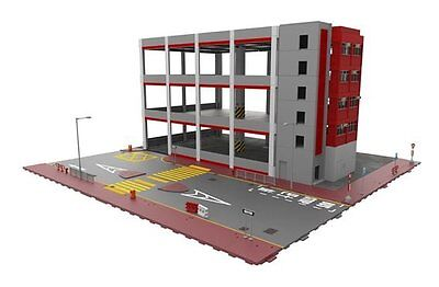 TINY Hong Kong City Bd9 KMB Bus Depot Diorama Set Color Painting Model Figure