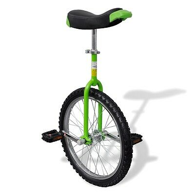 """S#Green 20"""" Fun Unicycle Uni Cycle Scooter Circus Pro Bike Youth Adult Fitness"""