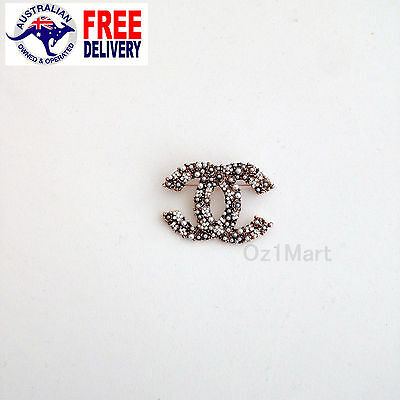 NEW Fashion BROOCH Pearls White Rose Gold Casual Office Pin Gift