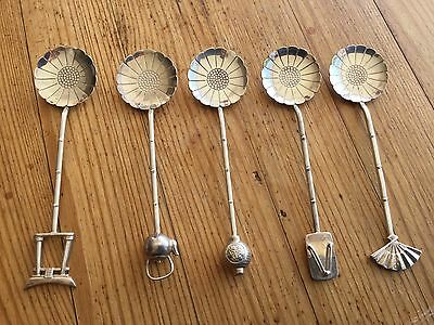 Japanese sterling silver figural coffee spoons 1930