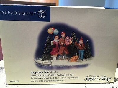 Department 56 Snow Village Happy New Year Set Of Four Item Number 56 55124