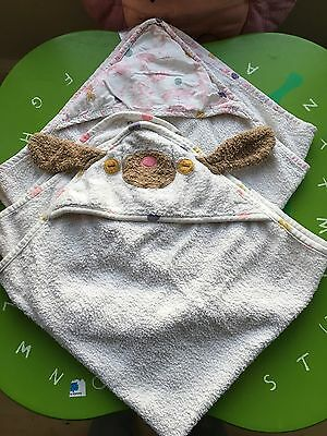Joules Baby Girls Mad Hatter Hooded  Bath Towels